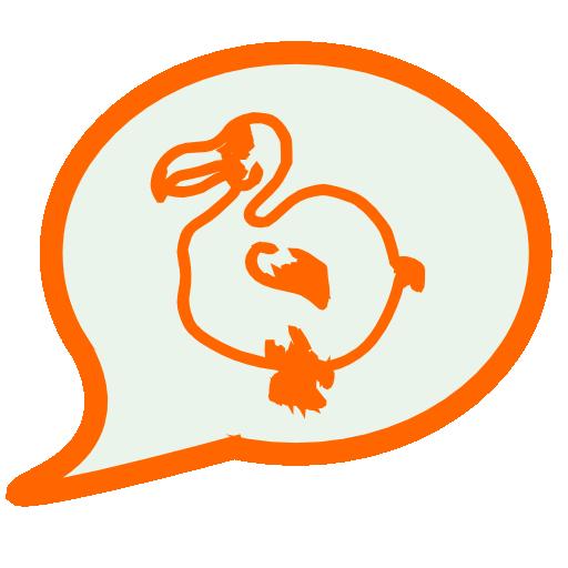 Dodo icon - Chat orange ...